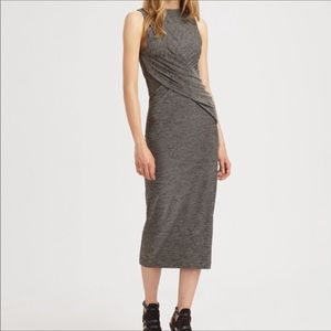 T Alexander Wang | Marled Jersey Twist Midi Dress